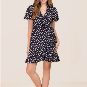 Dresses & Skirts - TRISHA RUFFLE FLORAL WRAP DRESS